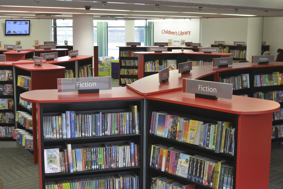 faux library redbridge central library library design success story 14872