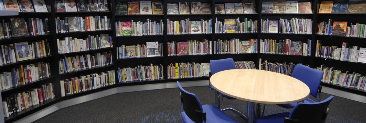 Thame library interior design seating area