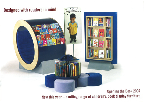 Our designs for library interiors and for children's display furniture bring fresh air into the library market which has been staid and dull for years