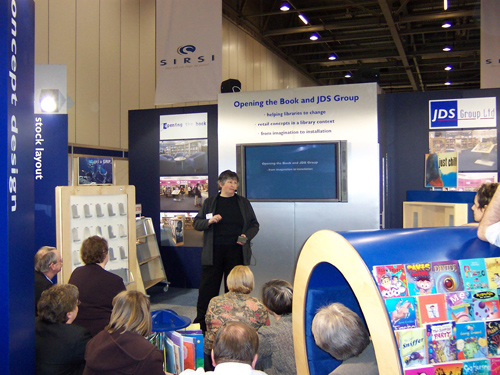 Our stand is the busiest and our programmed speeches draw the biggest number of participants.