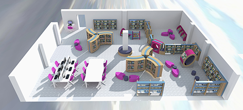 Bookspace 3D visual