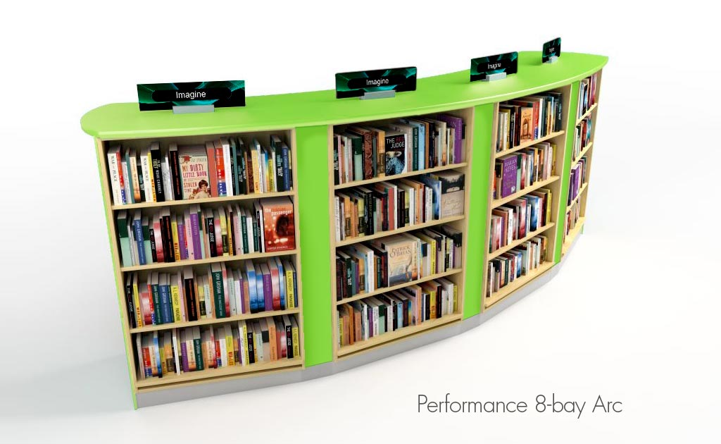 Performance shelving comes in three heights: 1200mm,1500mm and 1800mm