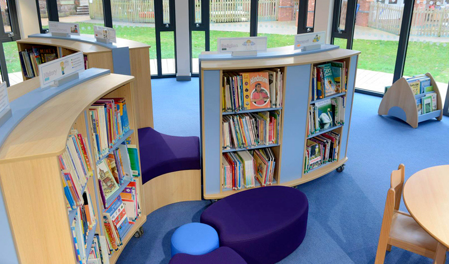 Online courses for teachers. Primary School Library Design