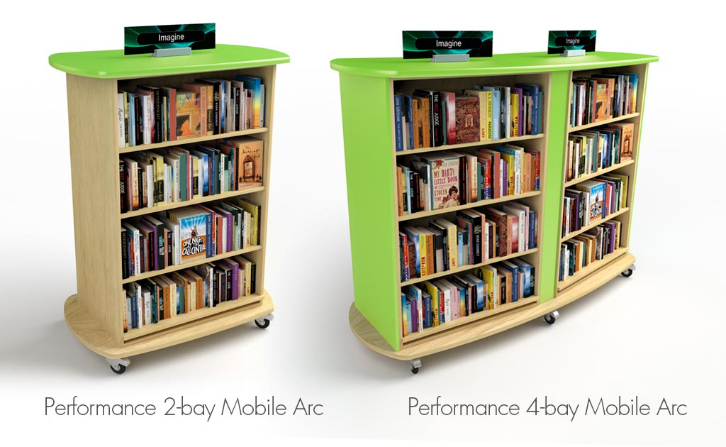 All our shelving shapes can be made using one and two unit Mobile Bookcases