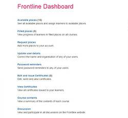 Frontline Dashboard