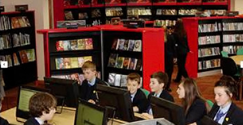 A newly refurbished secondary school library
