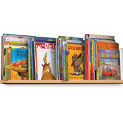 On-shelf book display