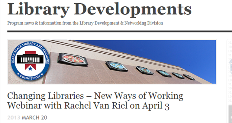 Library developments