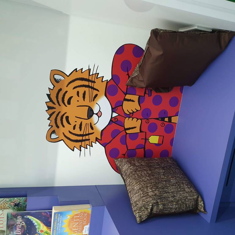 Tiger seating area