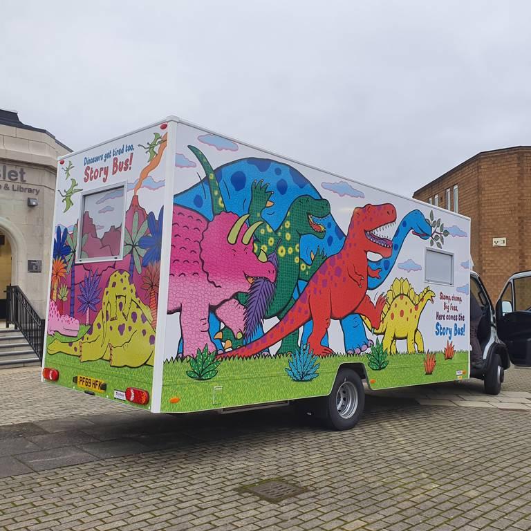 Leeds City Council Story Bus