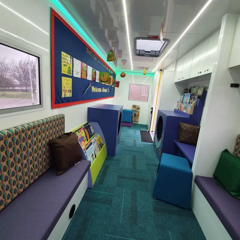 Leeds City Council Story Bus interior