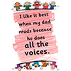 Childrens Library Graphic: I like it best when my dad reads as he does all the voices