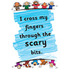 Childrens Library Graphic: I cross my fingers through the scary bits