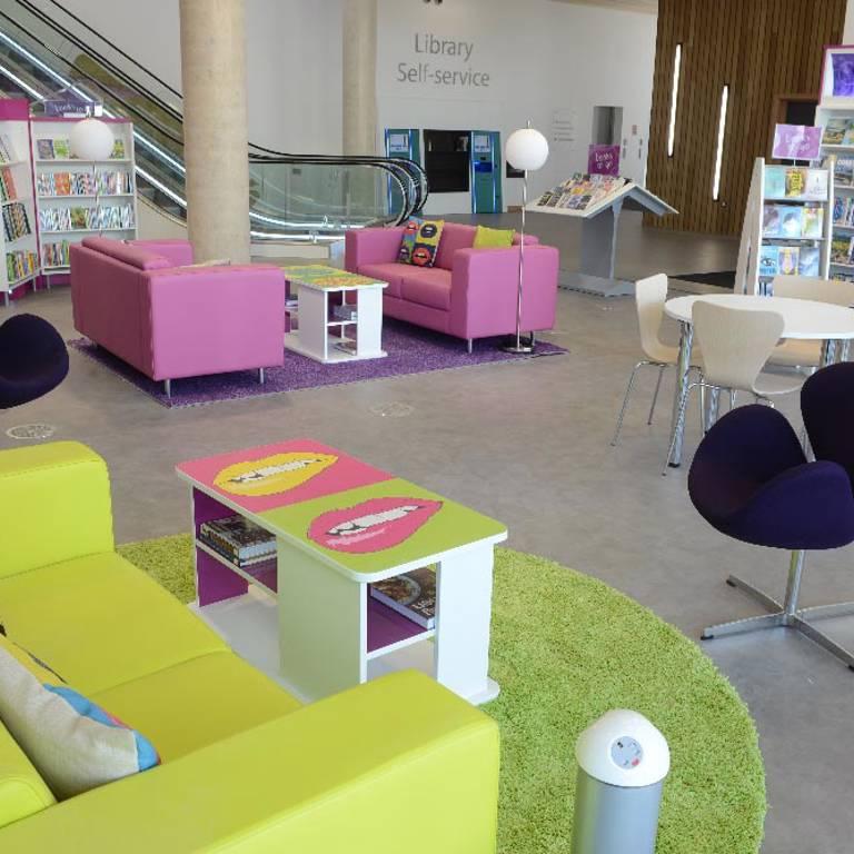 Bespoke Pop-art-inspired theme, Southwater Library (Telford)