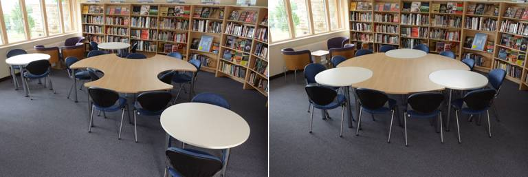 Our unique Byte and Orbit tables combine to provide ideal group study space.
