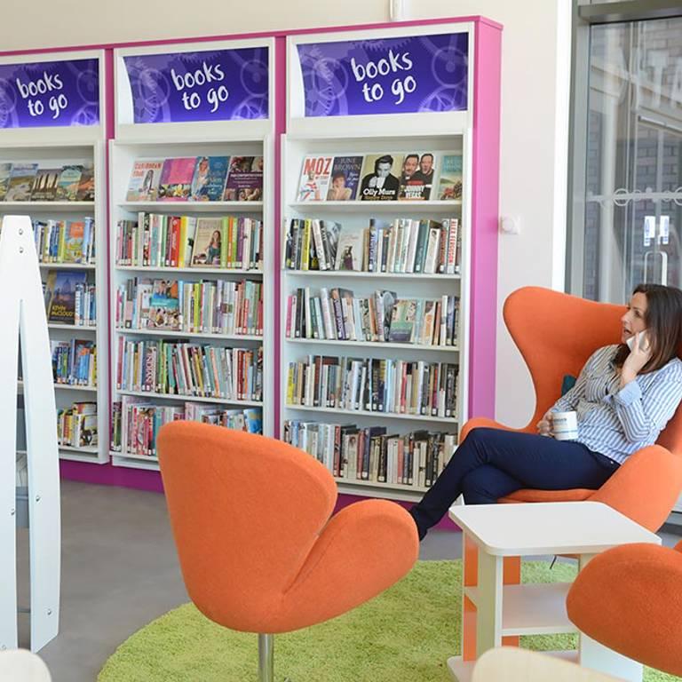 Dynamic colour scheme, Southwater Library (Telford)