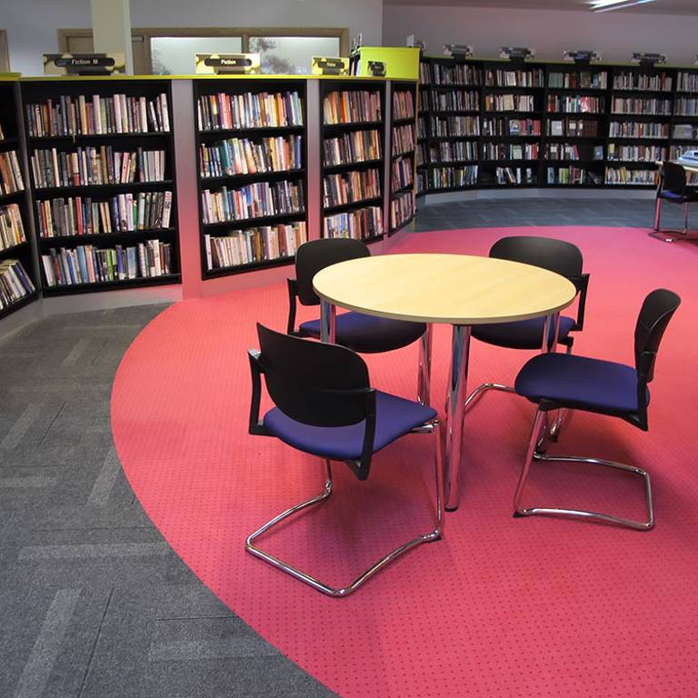 Curved bookcases, Wellington Library