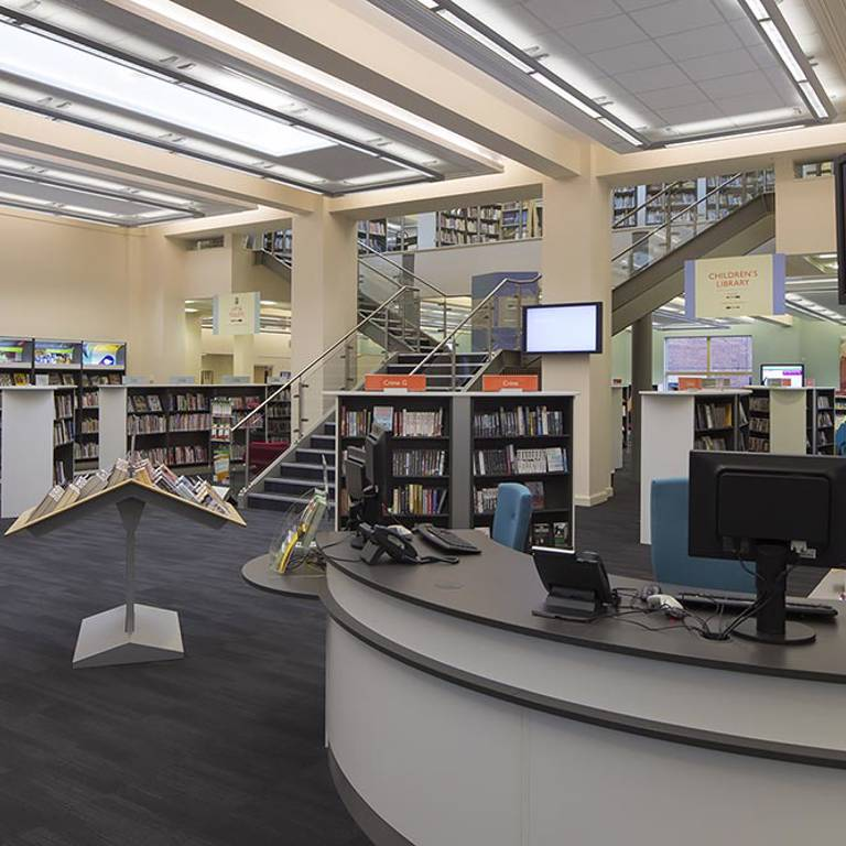 Large counter, West Bridgford Library
