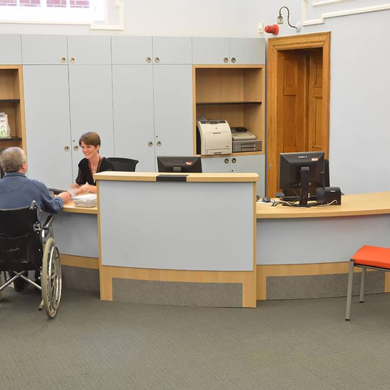 Wheelchair accessible counter, Gateshead Central Library