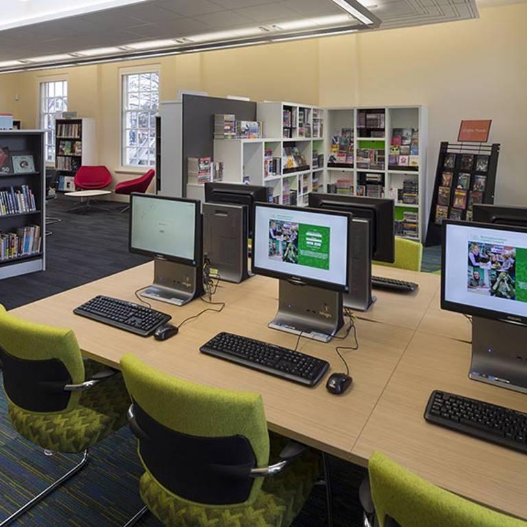 IT desks at West Bridgford