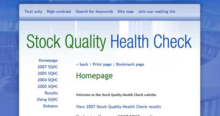 Stock Quality Health Check