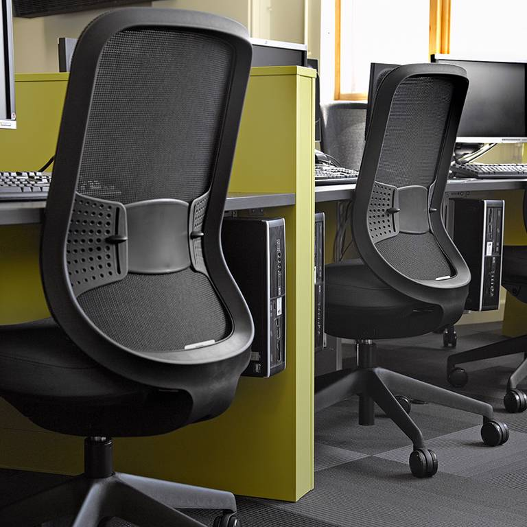Curved desks and seating