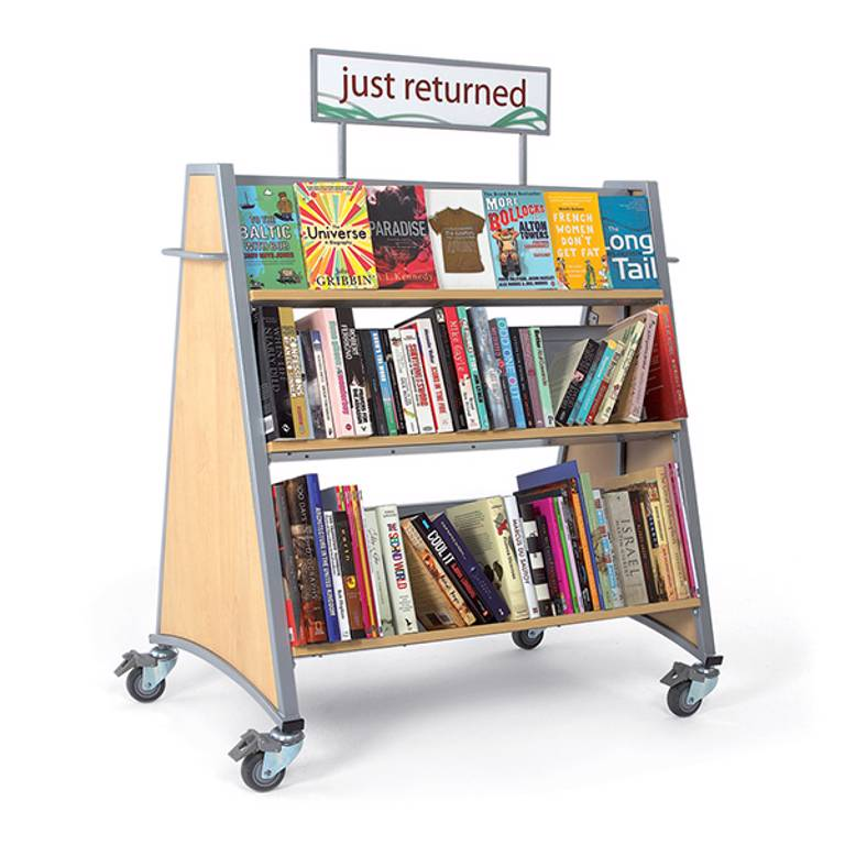 Of course you could just use the cart as a way to display the returned books so it never is empty.