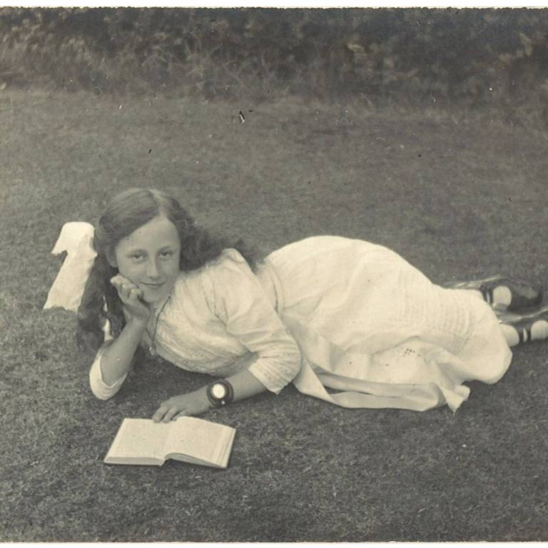 Young girl relaxed enjoying a book