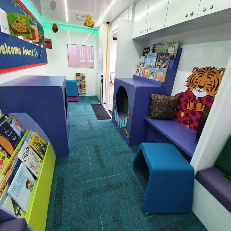 Story Bus interior