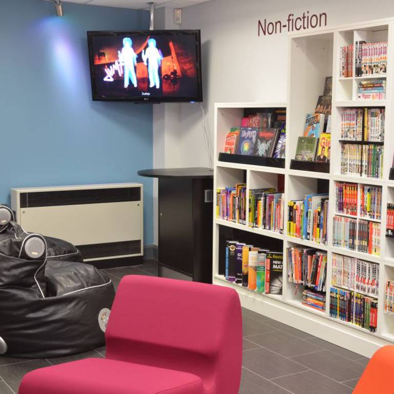 Gaming area in teenage library