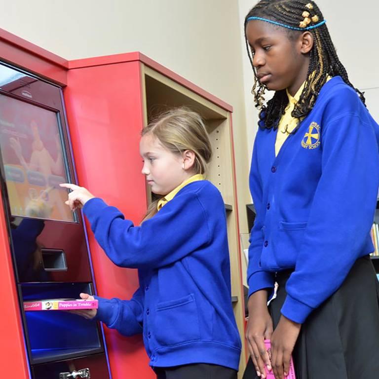 Child-friendly self-service, Gateshead Central Library
