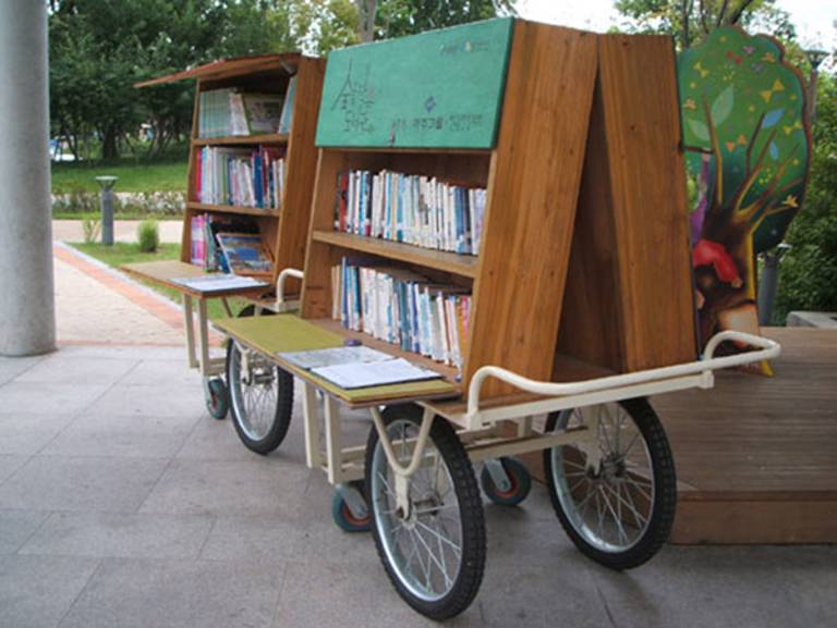 Some are truly mobile and work as pop-up libraries in themselves