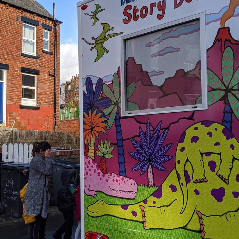 Back of Story Bus