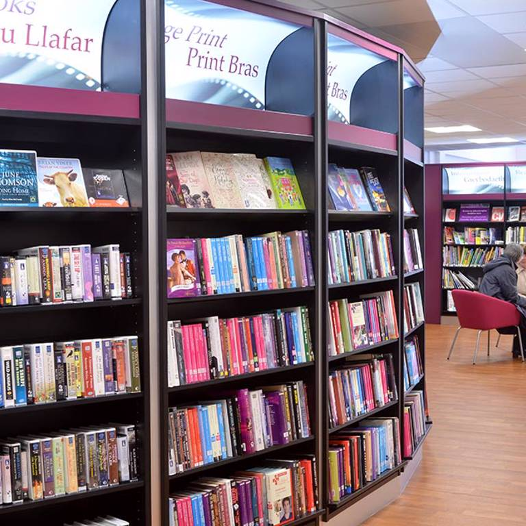A place to meet and chat, Risca Palace Library