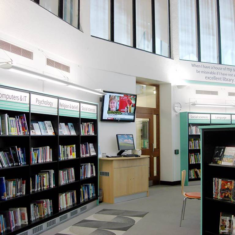 High visibility guiding, Fullwell Cross Library