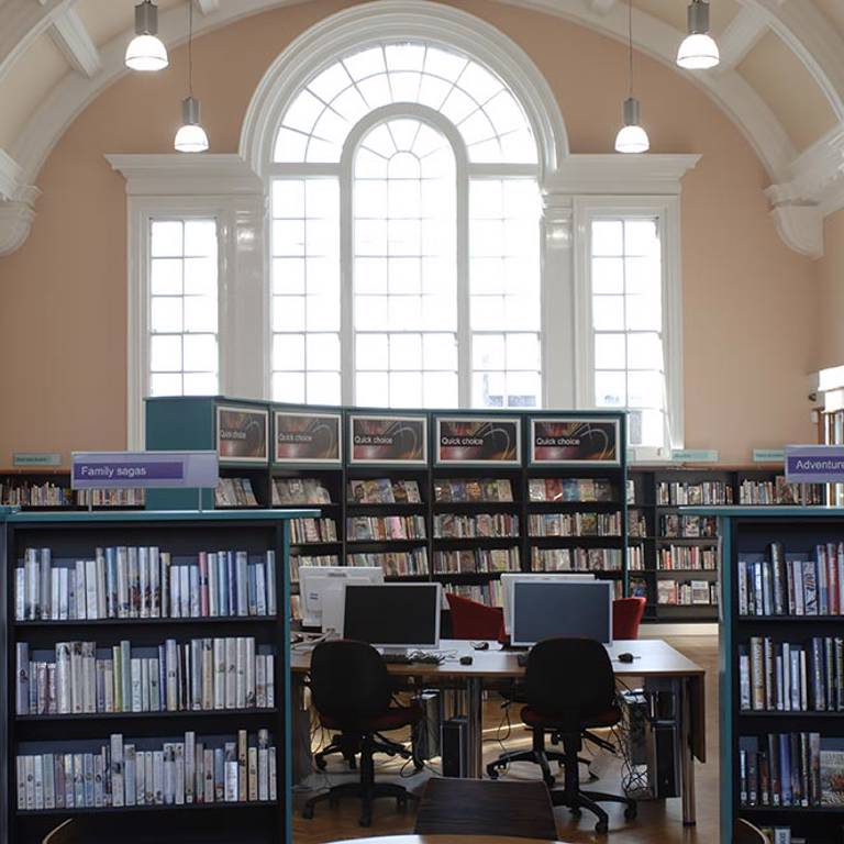 High impact mid-floor quick choice collection, Toxteth Library
