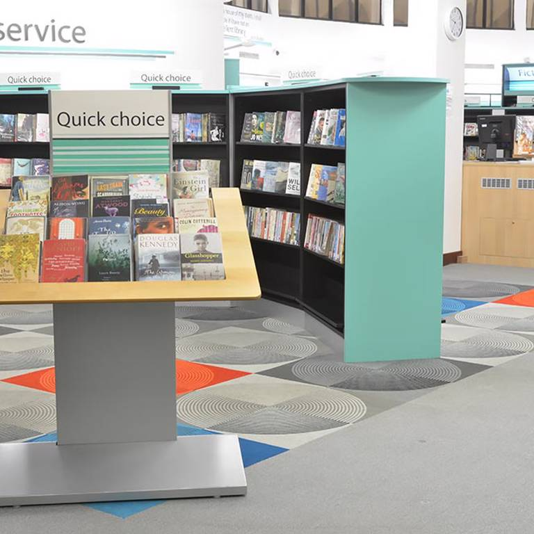 High impact display in promotional hot spot, Fullwell Cross Library