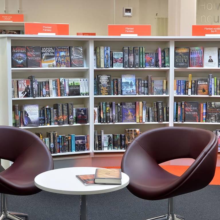 Elegant seating, Llandudno Library