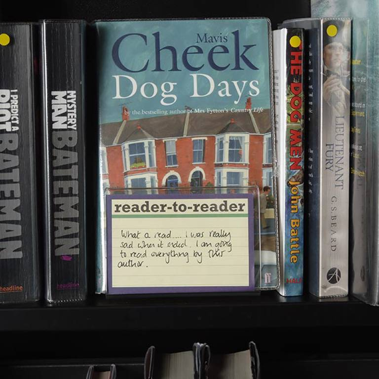 Reader-to-reader comment offers on-shelf promotion