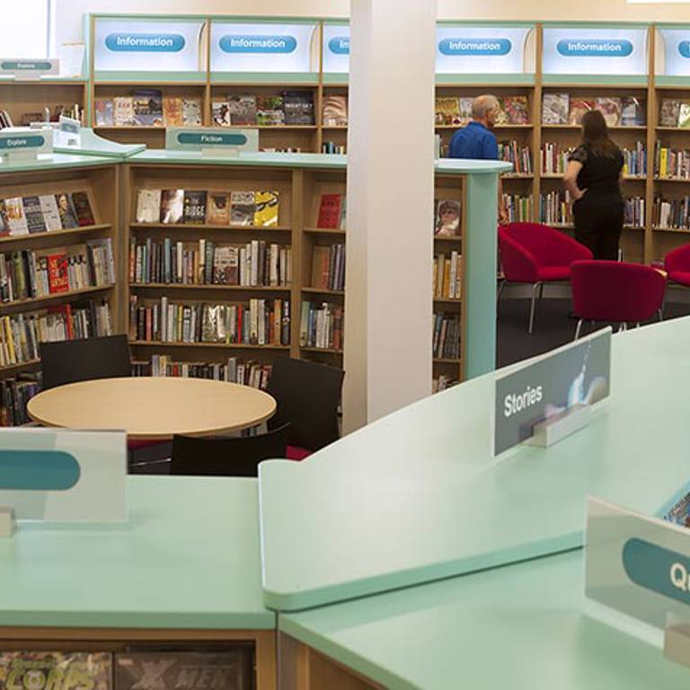 Discovery layout, Rawmarsh Library