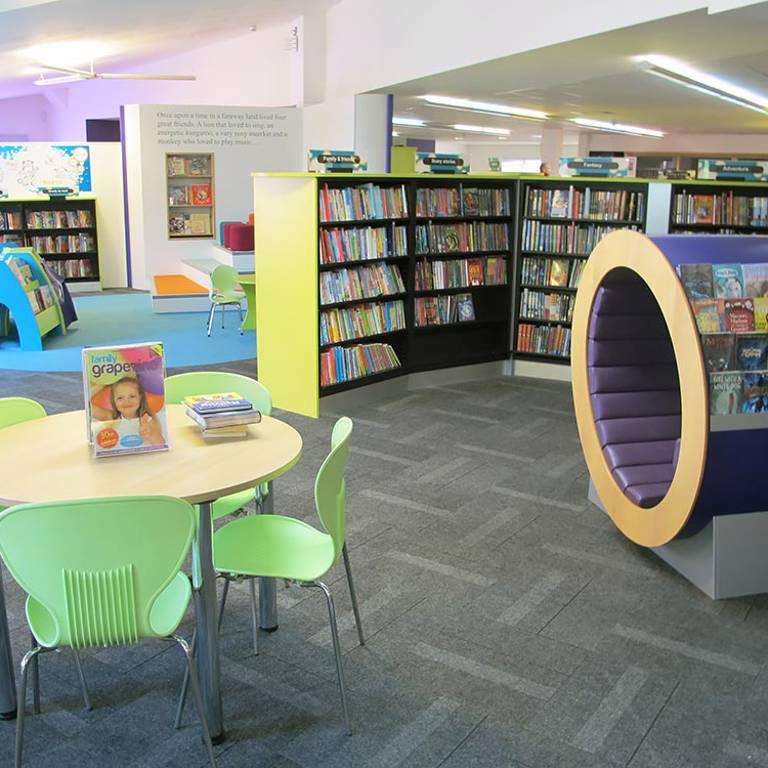 Colourful children's area, Wellington Library