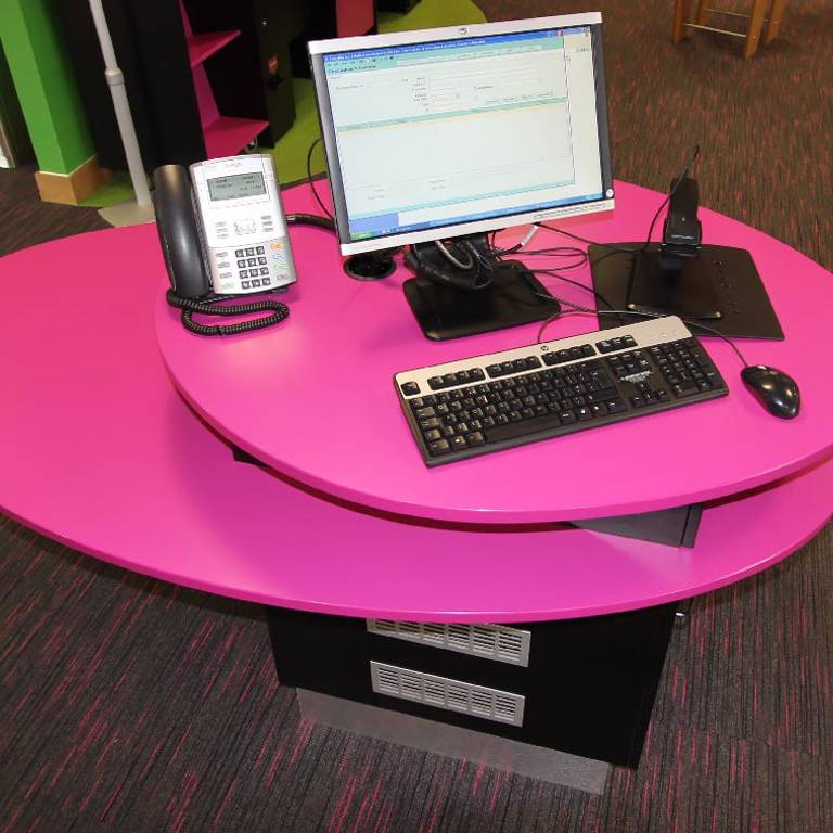 Staff point, Rotherham Riverside Library
